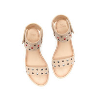 LEATHER SANDAL WITH STUD DETAILING - Ethnic style - Girl - Kids - ZARA United States