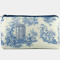 Doctor Who toile makeup bag / cosmetic zipper pouch