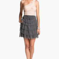 Way-In One Shoulder Chiffon Dress (Juniors) | Nordstrom