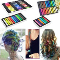 [5029] 6 Colors Temporary Hair Chalk Dye Soft Pastels Salon Kit