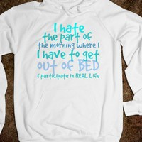 """I HATE MORNINGS"" HOODIE"