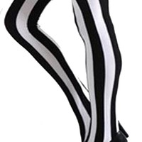 Ilitia Punk Wide Vertical Stripe Stockings Thigh High Socks