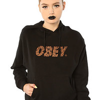 Obey Sweatshirt Cheetah Logo Hoody Black  Karmaloop