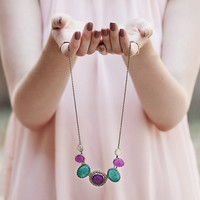 Jewel tones Statement necklace - New bright sumer jewelry collection Color Candy (BN020)