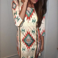 Aztec Shift Dress | The Rage