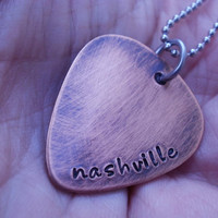 Guitar PIck Necklace, Sample Sale... nashville
