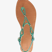Metallic Cord Thong Sandals | FOREVER 21 - 2035563774
