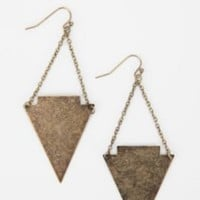 Metal Arrowhead Drop Earrings
