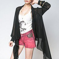 Dear Miami Sheer Black Jacket by Ladakh