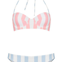 Pink Stripe Underwired Bikini - New In This Week - New In - Topshop USA