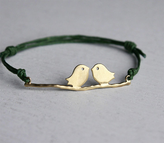 Love Birds Bracelet 24 colors to choose by greenduckweed on Etsy