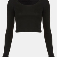 Topshop Long Sleeve Crop Tee | Nordstrom