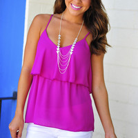 Tiering Up Tank Top: African Violet | Hope's