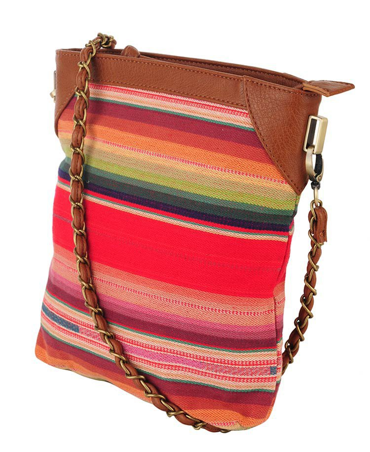 Multi-Striped N/S Shoulder Bag | FOREVER21 - 1000026633