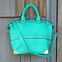 The Haven Tote in Mint, Sweet Bohemian Totes & Bags