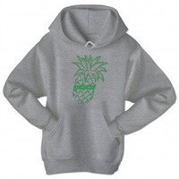 Psych Pineapple Hoodie - Heather Grey