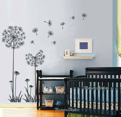 DandelionsVinyl Wall DecalStickerNature Design for by NatureStyle