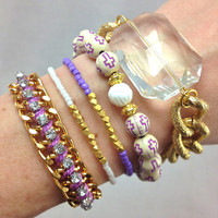 Lilac Dreams Stacked Bracelet Set