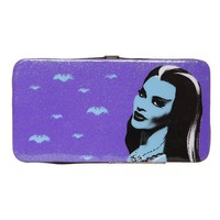 Rock Rebel Lily Munster Purple Hinge Wallet - 188743
