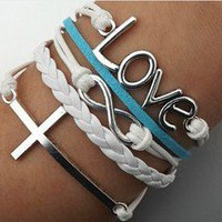 Cross love bracelet