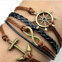 Infinity, Anchors, Rudders Bracelet