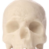 Insight Candle Liujiang Skull in Bone White