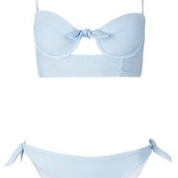 Blue Stripe Triangle Bikini - Swimwear - New In This Week  - New In