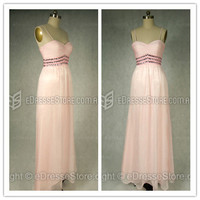 Prom Dresses Australia — Sheath/Column Chiffon Pearl Pink Beading Formal Dresses at Edressestore.com.au