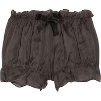 Undrest Ruffled silk shorts