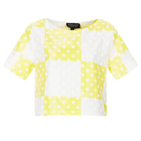 Check Flock Spot Crop Tee - New In This Week - New In - Topshop USA