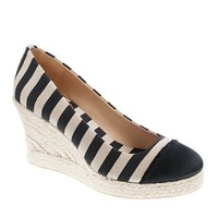 Seville canvas and satin wedge espadrilles - wedges - Women&#x27;s shoes - J.Crew