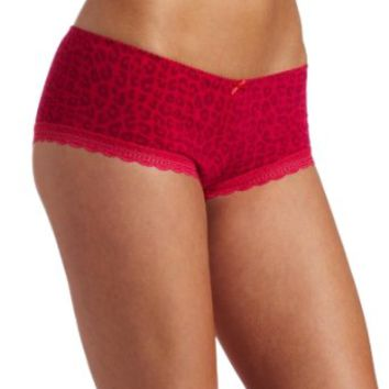 Barely There Women's Go Girlie Chill Chick Rayon Spandex Boyshort Panty