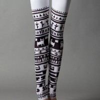 Black Leggings/Tights - White Tribe | UsTrendy