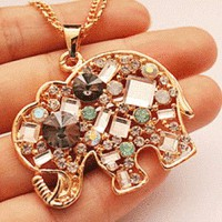Crystal Elephant Fashion Necklace from LilyFair Jewelry
