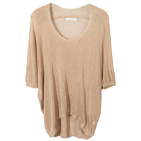Loose Medium Sleeve Coffee Jumpers [NCSWJ0021] - $24.99 :
