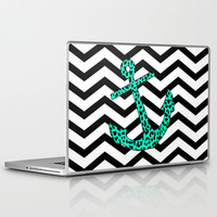 Mint Leopard Anchor Laptop &amp; iPad Skin by M Studio