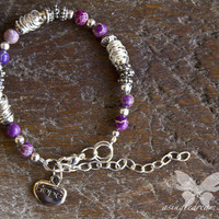 Purple Jasper &amp; Silver Bracelet - &quot;Hope&quot; from A Single Dream