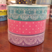 Lace Deco Tape Adhesive Stickers DT446 (3 rolls)