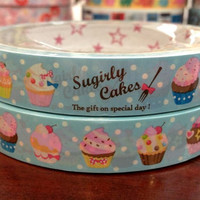 Cupcakes Deco Tape Adhesive Stickers DT465 25 meters