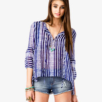 Sheer Shibori Top | FOREVER21 - 2034625972