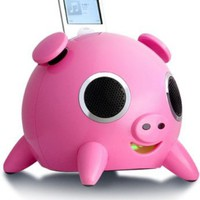 Speakal iPig 2.1 Stereo iPod Docking Station with 5 Speakers (Pink):Amazon:MP3 Players & Accessories