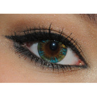 Royal Vision Creamy Peacock Green Cosmetic Circle Lens Contacts
