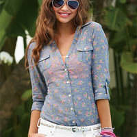 Ditsy Floral Chambray Shirt