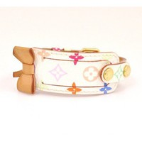 Louis Vuitton White Multicolor Leather Porte-Adresse Bracelet