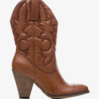 Western High Heel Boots | FOREVER 21 - 2038052667