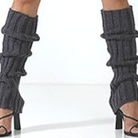 Amazon.com: Cable Knit Leg Warmers by Foot Traffic in Denim [Apparel]: Clothing