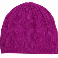 Amazon.com: EH190NB - Cable Knitted Solid Color Fashion Winter Beanie / Cap / Hat - Berry/One Size: Clothing