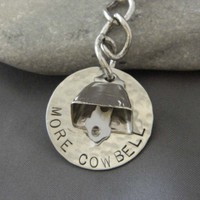 More Cowbell Keychain | wirenwhimsy - Accessories on ArtFire