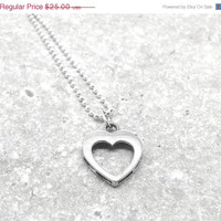 Mothers Day Sale Heart Necklace Sterling Silver