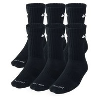 Nike Store. Nike Dri-FIT Cushion Crew Socks (Large/6 Pair)